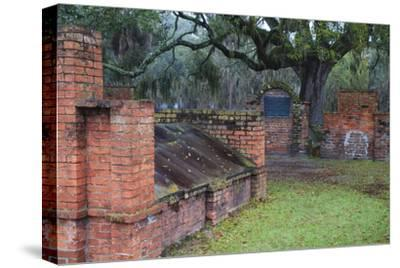 Georgia, Savannah, Burial Vaults in Historic Colonial Park Cemetery-Joanne Wells-Stretched Canvas Print