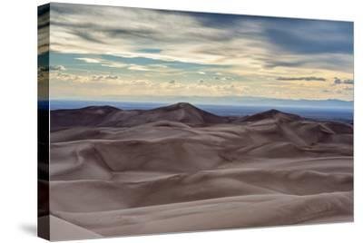 Great Sand Dunes National Park and Sangre Cristo Mountains, Colorado-Howie Garber-Stretched Canvas Print