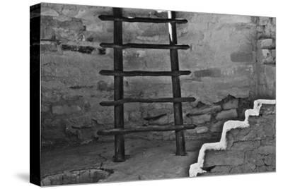 USA, Colorado, Mesa Verde, Long Ladder-John Ford-Stretched Canvas Print