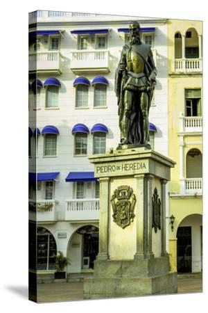 Pedro de Heredia, Plaza de Los Coches, Cartagena, Colombia-Jerry Ginsberg-Stretched Canvas Print