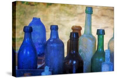 South Carolina, Charleston. Old Bottles Excavated from Slave Quarters-Don Paulson-Stretched Canvas Print