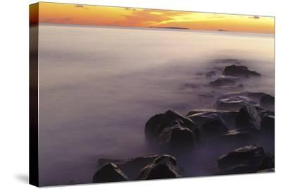 Dawn at Wallis Sands State Park in Rye, New Hampshire-Jerry & Marcy Monkman-Stretched Canvas Print