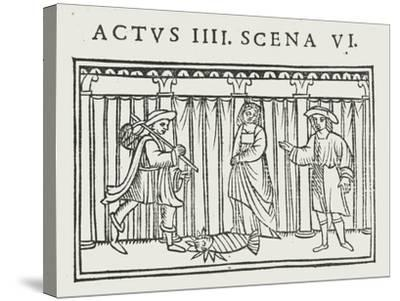Act IV Scene VI of 'Andria' by Terence--Stretched Canvas Print