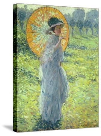 Woman with a Parasol, c. 1906-Frederick Carl Frieseke-Stretched Canvas Print