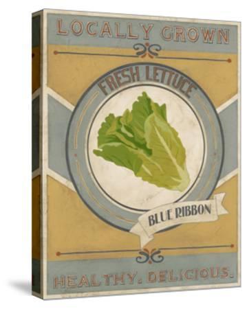Vintage Produce Sign IV-June Vess-Stretched Canvas Print