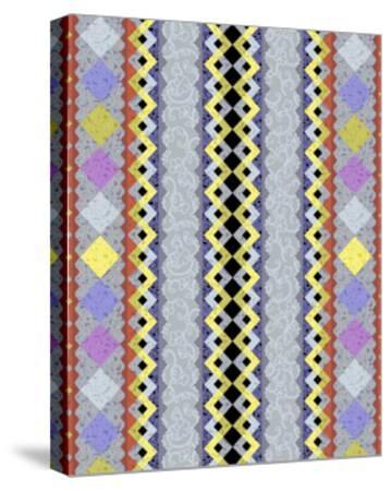 Vintage Stripe III-Katia Hoffman-Stretched Canvas Print