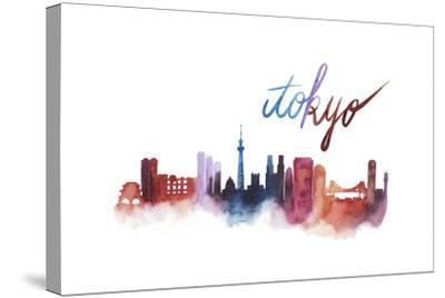 World Cities Skyline II-Grace Popp-Stretched Canvas Print