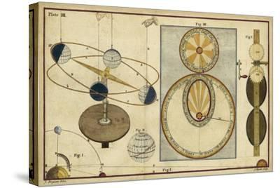 Distance of Sun, Moon and Planets-James Ferguson-Stretched Canvas Print