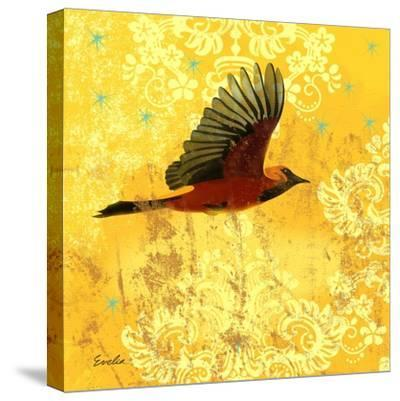 Oriole and Cartouche III-Evelia Designs-Stretched Canvas Print