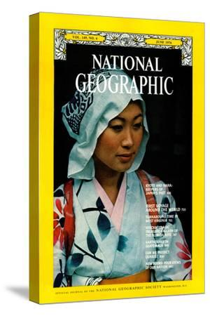 Cover of the June, 1976 National Geographic Magazine-George F^ Mobley-Stretched Canvas Print