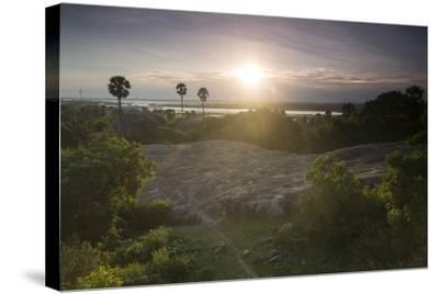 The Sun Sets over Mamallapuram-Kelley Miller-Stretched Canvas Print