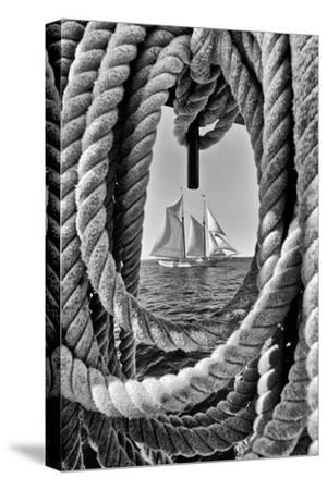 The Taber, the Oldest Documented Sailing Vessel in Continuous Service in the United States-Kike Calvo-Stretched Canvas Print