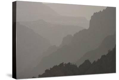 The Canyon Wall Along the South Rim of Black Canyon of the Gunnison National Park-Phil Schermeister-Stretched Canvas Print