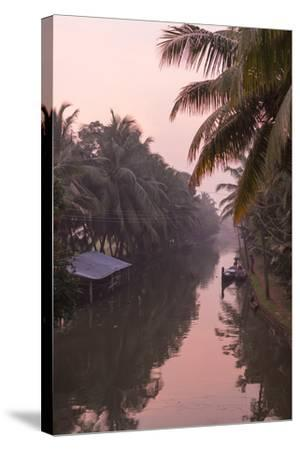 Sunset Creates a Beautiful Pink Hue in the Backwaters-Kelley Miller-Stretched Canvas Print