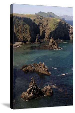 Cathedral Cove on Anacapa Island in Channel Islands National Park-Phil Schermeister-Stretched Canvas Print