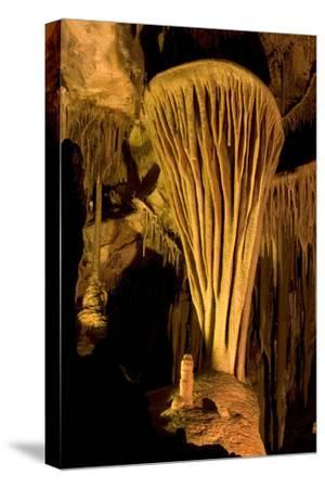 Rock Formation, the Parachute, Inside Lehman Caves in Great Basin National Park-Phil Schermeister-Stretched Canvas Print