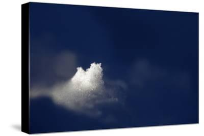 A Golden Dusting of Sahara Desert Sand on a Lump of Snow at 2,500 Meters-Ulla Lohmann-Stretched Canvas Print