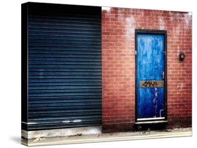 Derelict Door with Graffiti-Clive Nolan-Stretched Canvas Print
