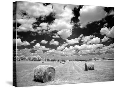 A Hayfield with Summer Clouds-Rip Smith-Stretched Canvas Print