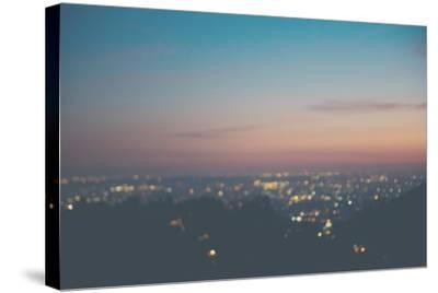 Sunset on Mulholland Drive-Laura Evans-Stretched Canvas Print