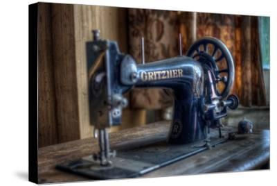 Old Sowing Machine-Nathan Wright-Stretched Canvas Print
