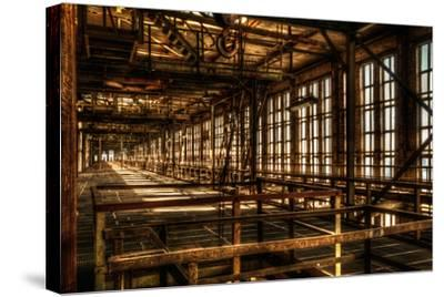 Abandoned Power Plant Interior-Nathan Wright-Stretched Canvas Print