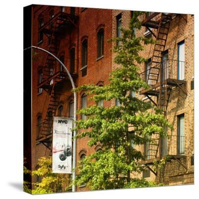 Buildings - Stairs - Emergency - New York City - United States-Philippe Hugonnard-Stretched Canvas Print