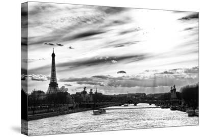 Sunset on the Alexander III Bridge - Eiffel Tower - Paris-Philippe Hugonnard-Stretched Canvas Print