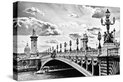 Alexander III Bridge view - Paris - France-Philippe Hugonnard-Stretched Canvas Print