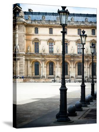 Lamps, the Louvre Museum, Paris, France-Philippe Hugonnard-Stretched Canvas Print