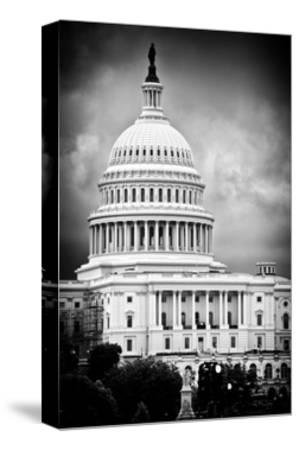 The Capitol Building, US Congress, Washington D.C, District of Columbia, White Frame-Philippe Hugonnard-Stretched Canvas Print