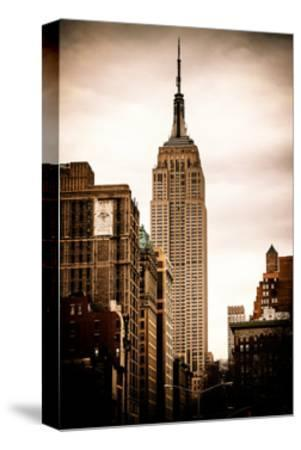 The Empire State Building-Philippe Hugonnard-Stretched Canvas Print