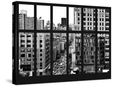 Window View - Meatpacking District with the Chelsea Market Building - Manhattan - New York City-Philippe Hugonnard-Stretched Canvas Print