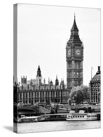 The Houses of Parliament and Big Ben - Hungerford Bridge and River Thames - City of London - UK-Philippe Hugonnard-Stretched Canvas Print