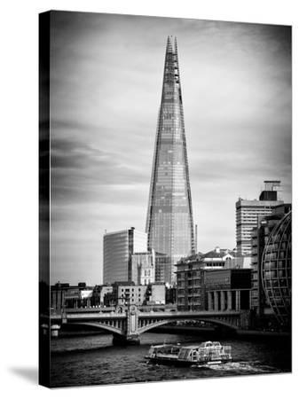 The Shard Building and The River Thames - London - UK - England - United Kingdom - Europe-Philippe Hugonnard-Stretched Canvas Print