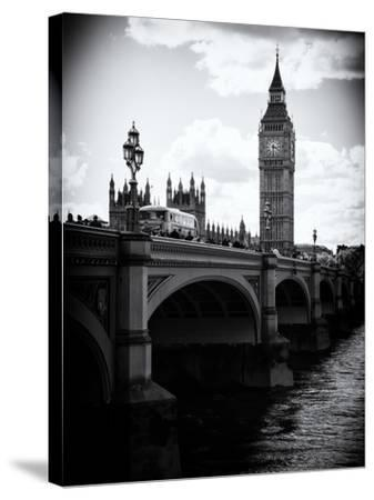 View of Big Ben from across the Westminster Bridge - Thames River - City of London - UK - England-Philippe Hugonnard-Stretched Canvas Print