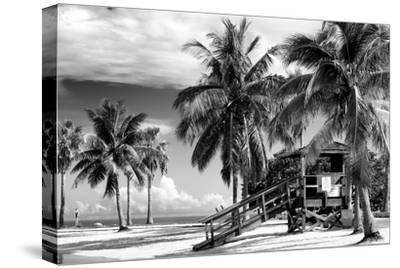 Life Guard Station - Miami Beach - Florida-Philippe Hugonnard-Stretched Canvas Print