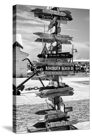 Destination Signs - Key West - Florida-Philippe Hugonnard-Stretched Canvas Print
