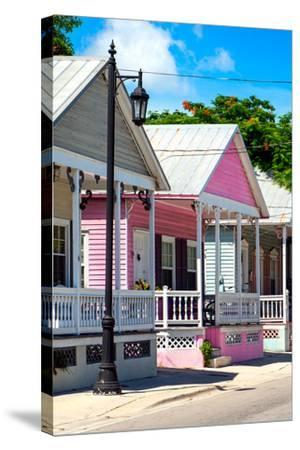 Key West Architecture - The Pink House - Florida-Philippe Hugonnard-Stretched Canvas Print
