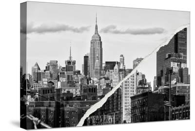 Dual Torn Posters Series - New York City-Philippe Hugonnard-Stretched Canvas Print