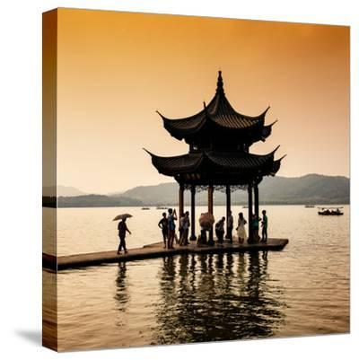 China 10MKm2 Collection - Water Pavilion at sunset-Philippe Hugonnard-Stretched Canvas Print