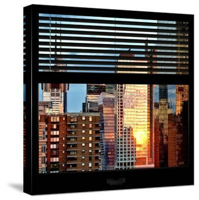 View from the Window - Buildings Sunset - Manhattan-Philippe Hugonnard-Stretched Canvas Print