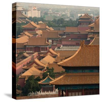 China 10MKm2 Collection - View of the roofs of Forbidden City-Philippe Hugonnard-Stretched Canvas Print