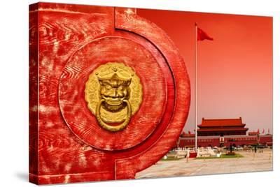 China 10MKm2 Collection - The Door God - Tiananmen Square-Philippe Hugonnard-Stretched Canvas Print