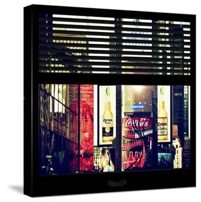 View from the Window - Times Square Buildings-Philippe Hugonnard-Stretched Canvas Print