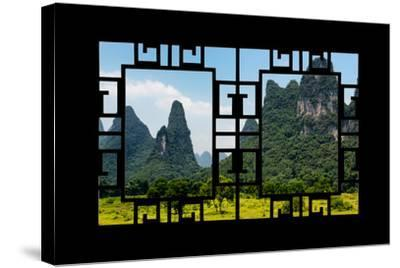 China 10MKm2 Collection - Asian Window - Karst Mountains-Philippe Hugonnard-Stretched Canvas Print