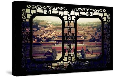 China 10MKm2 Collection - Asian Window - Forbidden City - Beijing-Philippe Hugonnard-Stretched Canvas Print
