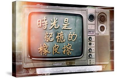 China 10MKm2 Collection - Instants Of Series - Retro TV-Philippe Hugonnard-Stretched Canvas Print