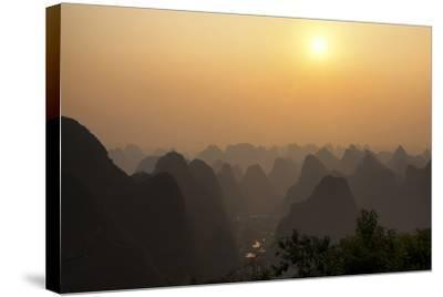 China 10MKm2 Collection - Karst Mountains at sunset - Yangshuo-Philippe Hugonnard-Stretched Canvas Print