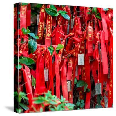 China 10MKm2 Collection - Prayer Ribbons - Buddha Temple-Philippe Hugonnard-Stretched Canvas Print